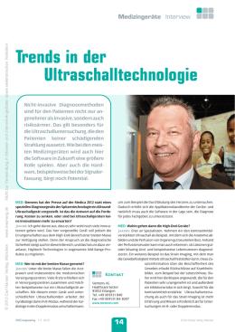 Trends in der Ultraschalltechnologie
