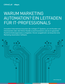 warum marketing automation? ein leitfaden für it