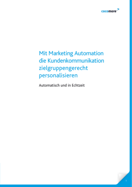 Mit Marketing Automation die Kundenkommunikation