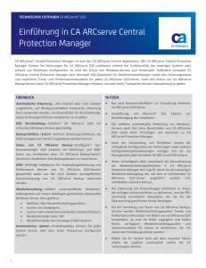 Einführung in CA ARCserve Central Protection Manager