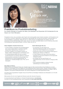 Praktikum im Produktmarketing