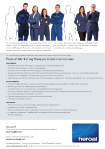 Produkt Marketing Manager (m/w) international