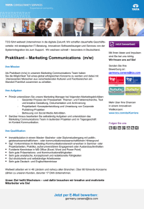 Praktikant – Marketing Communications (m/w)
