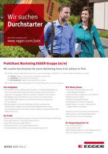 Praktikant Marketing EGGER Gruppe (m/w)