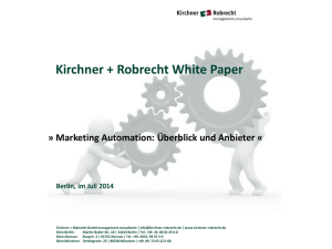 Marketing Automation - Kirchner + Robrecht