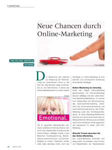 Neue Chancen durch Online-Marketing