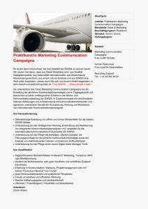 Praktikant/in Marketing Communication Campaigns
