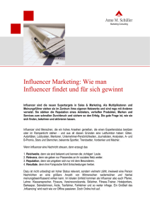 Influencer Marketing - Touchpoint Management