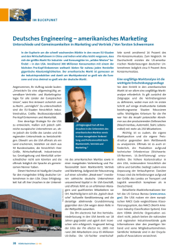 Deutsches Engineering – amerikanisches Marketing