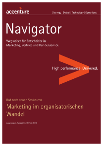 Marketing im organisatorischen Wandel