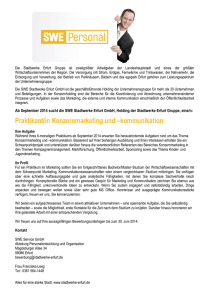 Praktikant/in Konzernmarketing und –kommunikation