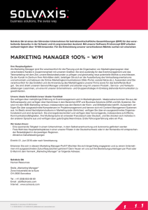 marketing manager 100% – w/m