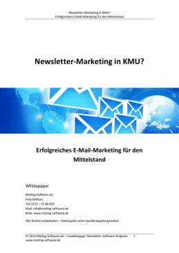 e-mail-marketing für kmu - Newsletter Software im Vergleich