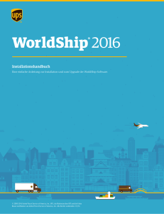 WorldShip Installationshandbuch