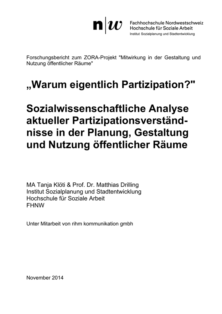 Forschungsbericht FHNW