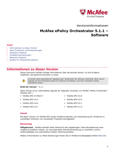 McAfee ePolicy Orchestrator 5.1.1 – Software