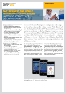 SAP® BUSINESS ONE MOBILE ANWENDUNG FÜR DAS IPHONE