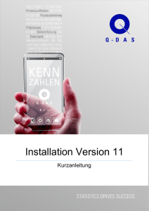Installation Version 11 - Q-DAS