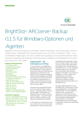 BrightStor®ARCserve®Backupr11.5 für Windows