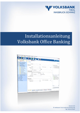 Installationsanleitung Volksbank Office Banking