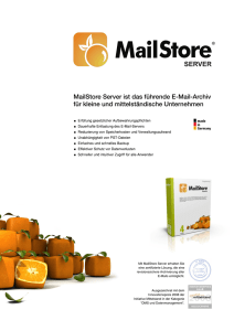 MailStore Produktbroschuere - ISP*D International Software