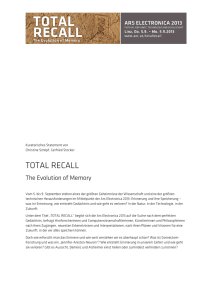 total recall - Ars Electronica