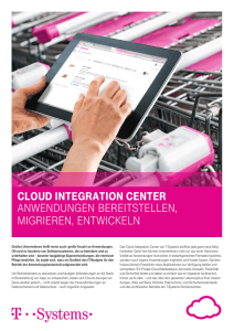 Cloud IntegratIon Center Anwendungen bereitstellen, migrieren