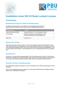 Installationsanleitung NX 9 Node Locked. - PBU CAD