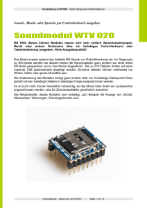 Soundmodul WTV 020 - Robotikhardware.de