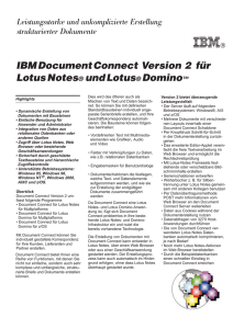 IBMDocumentConnect Version 2 für LotusNotes undLotus Domino