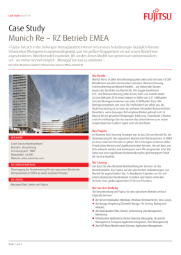 Case Study Munich Re – RZ Betrieb EMEA