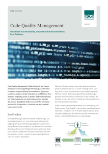 Code Quality Management
