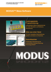 MODUS™ Software - Renishaw resource centre