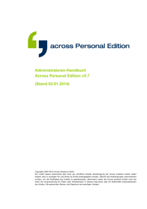 Administratoren- Handbuch Across Personal Edition v5.7
