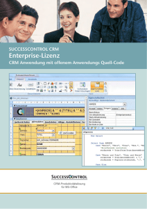 CRM Anwendung SuccessControl Enterprise Version