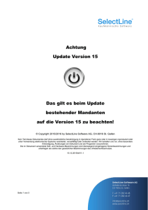 Achtung Update Version 15