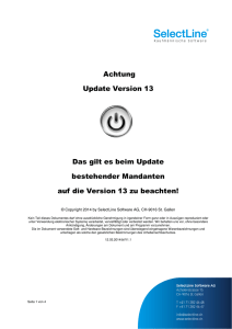 Achtung Update Version 13