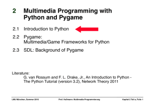 2 Multimedia Programming with Python and Pygame