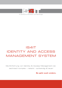 IS4IT IDENTITY AND ACCESS MANAGEMENT SYSTEM