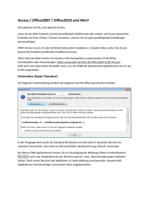 Access / Office2007 / Office2010 und Win7