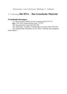 Arbeitsblätter zum Thema Proteine und Gentechnologie