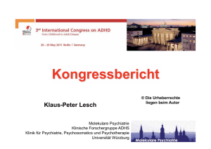 3. Internationaler Kongress über ADHS 2011 - ADHS