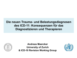Trauma and Stress-Related Disorders: Developments for ICD-11