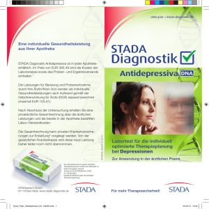 Antidepressiva - STADA Diagnostik