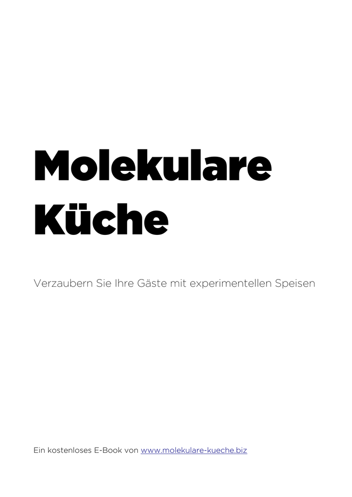 E-Book - Molekulare Küche