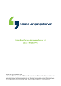 QuickStart Across Language Server v6