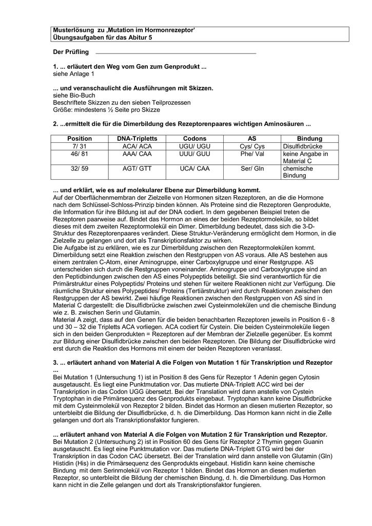 Beste Mutationen Arbeitsblatt Schlüssel Fotos - Arbeitsblätter für ...
