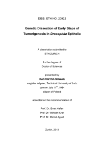 Genetic Dissection of Early Steps of - ETH E