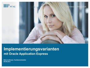 Rapid Application Development mit Oracle Application Express 4.1.1