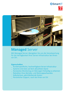 Managed Server - SmartIT Services AG